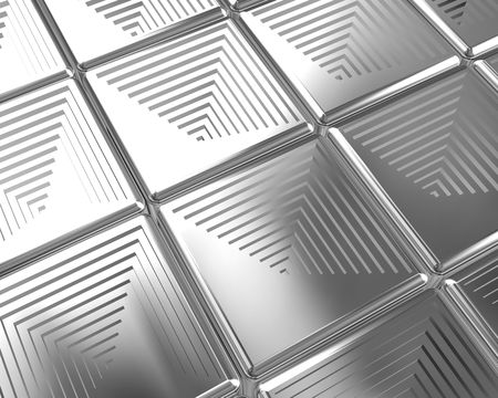 Shiny silver tiles background 3d illustration illustration