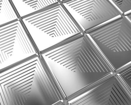 Shiny silver tiles background 3d illustration Stock Illustration - 7615402