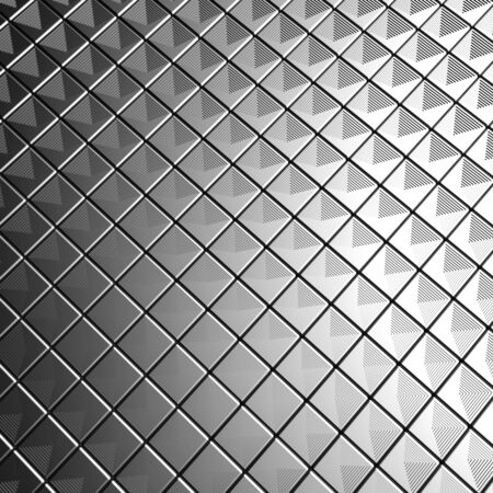 Silver aluminium tile background 3d illustration Stock Illustration - 7615406