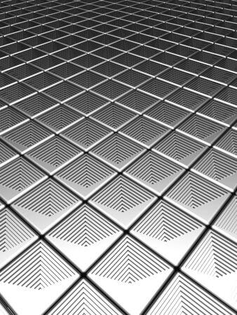 Illution silver aluminium pattern background 3d illustration illustration
