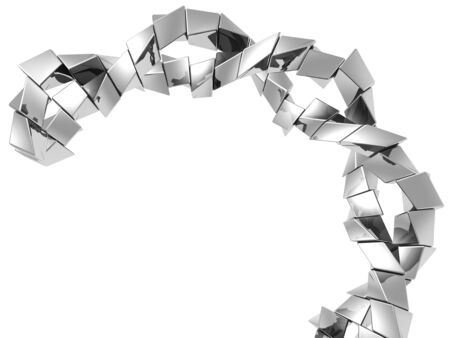 Abstract silver metal cube shap background 3d illustration Stock Illustration - 7638479