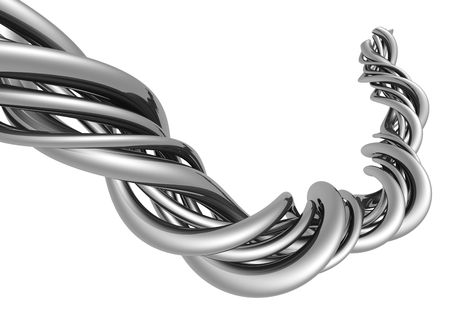 distort: Aluminum abstract silver string artwork background 3d illustration