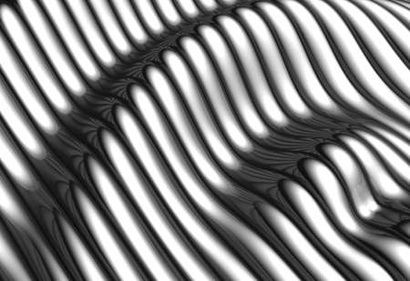Silver aluminium wave shape stripe background 3d illustration Stock Illustration - 7744098