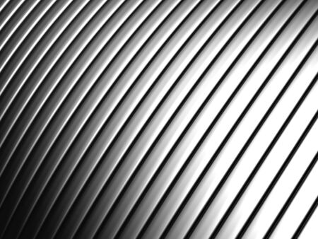 concave: Aluminum silver stripe pattern background 3d illustration Stock Photo