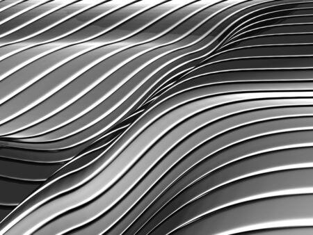 decorration: Aluminum abstract silver stripe pattern background 3d illustration