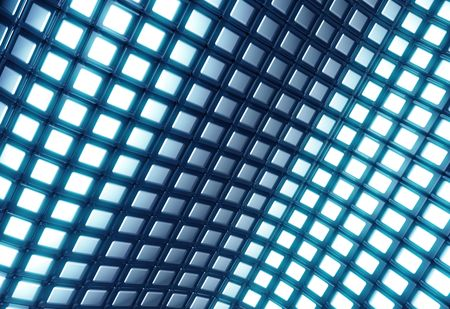 comtemporary: Abstract shiny blue square pattern 3d illustration