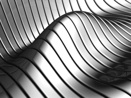 Aluminum abstract silver wave pattern background 3d illustration Stock Illustration - 7784525