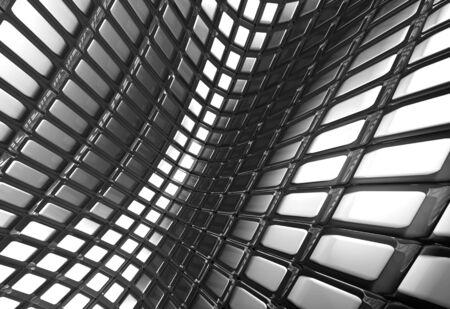 Shiny abstract aluminum square pattern background 3d illustration illustration