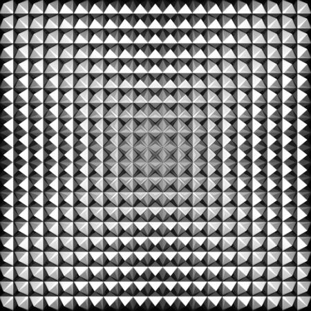 Triangle aluminium silver tile background 3d illustration illustration