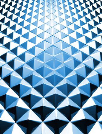 glisten: Blue shiny triangle background 3d illustration