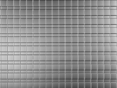 reiteration: Silver aluminium tile shiny background 3d illustration