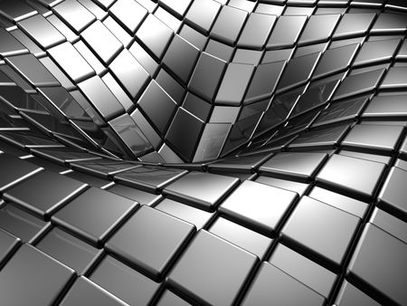 Abstract aluminium silver square background 3d illustration