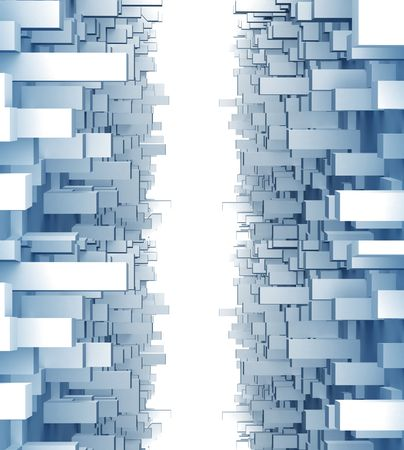 Dynamic blocks design element background 3d illustration Stock Illustration - 8186354