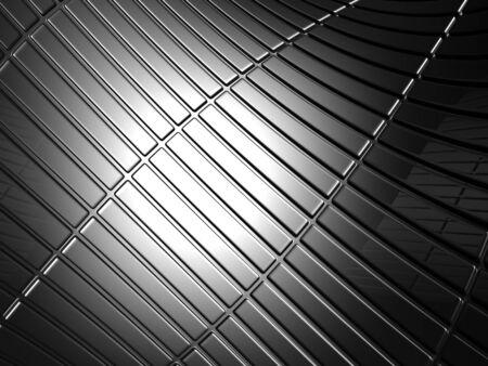 Abstract curve stripe aluminum pattern background 3d illustration Stock Illustration - 8219953