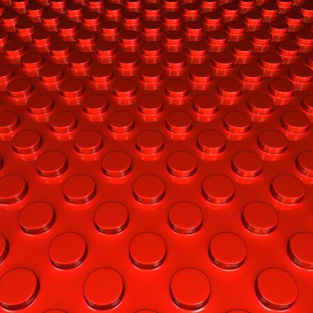 metalic background: Metalic red round shape pettern background 3d illustration Stock Photo