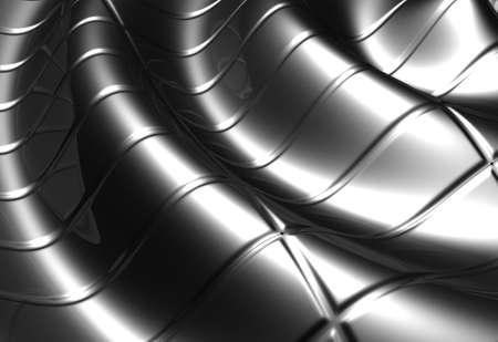 Abstract wave stripe aluminum pattern background 3d illustration Stock Illustration - 8285416