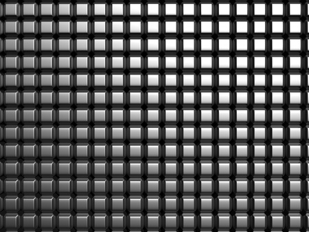 Shiny aluminum square pattern background 3d illustration