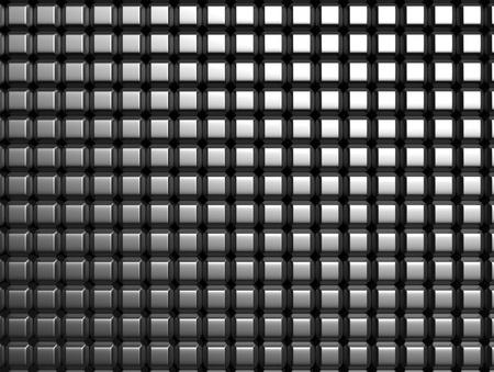 square composition: Shiny aluminum square pattern background 3d illustration
