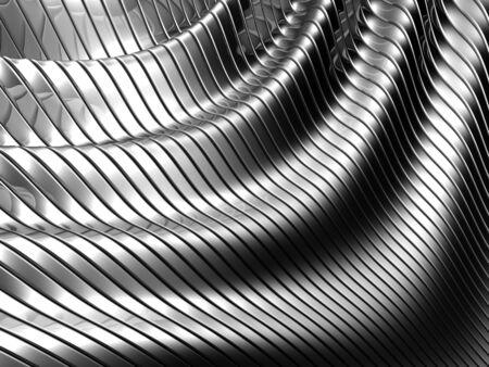 Aluminum abstract silver stripe pattern background 3d illustration Stock Illustration - 8366225