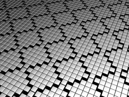 Silver tile pattern background 3d illustration illustration