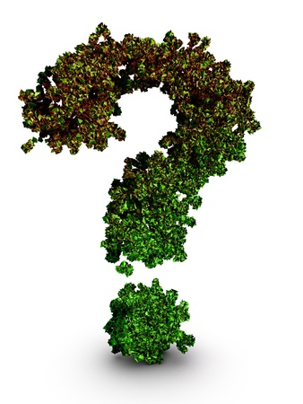 Dying plants question mark symbol environmental concept 3d illustration isolated illustration