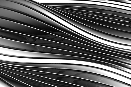 distort: Aluminum abstract silver stripe pattern background 3d illustration