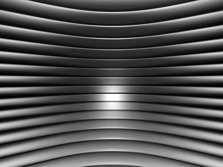 Aluminum abstract silver curve stripe pattern background 3d illustration