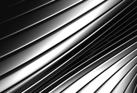 Aluminum abstract silver stripe pattern background 3d illustration Stock Illustration - 8658789