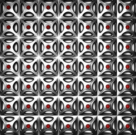 Luxury silver pattern background 3d illustration Stock Illustration - 8882613