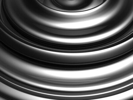 Silver swirl abstract background 3d illustration Stock Illustration - 8882612