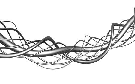 distort: Ilustraci�n 3d de aluminio cadena abstracta ilustraci�n aislada fondo