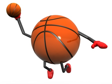 Basketball Character Slam Dunk 3d model illustration Stock Illustration - 9035343