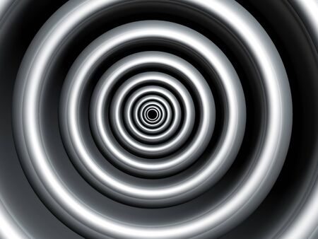 concave: Silver swirl abstract background 3d illustration Stock Photo