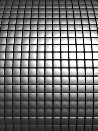 aluminum: Abstract aluminum curve square pattern background 3d illustration