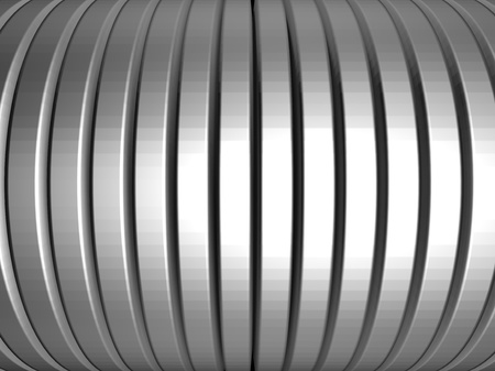 distort: Aluminum silver stripe pattern background 3d illustration Stock Photo