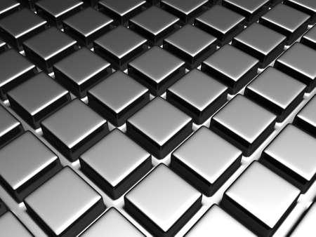 Shiny aluminum square pattern background 3d illustration Stock Illustration - 9345190