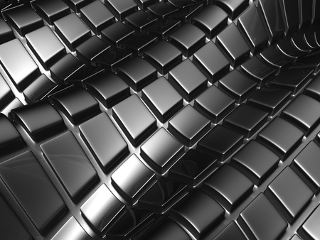 reiteration: Abstract aluminium silver square background 3d illustration  Stock Photo