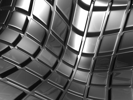 Abstract aluminium silver square background 3d illustration  illustration