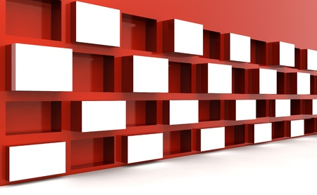 Photo frame stand display image or artwork in white space 3d illustration Stock Illustration - 9404145