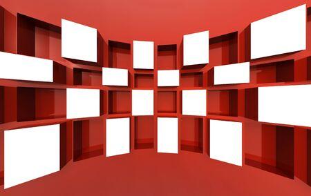 showreel: Photo frame display image or artwork in white space 3d illustration