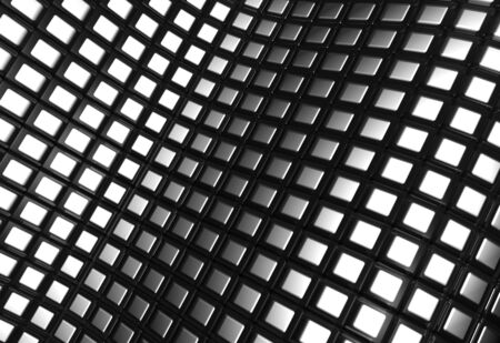 Shiny aluminum square pattern background 3d illustration illustration
