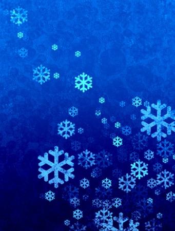 snow falling: Neve di Natale che cade con illustrazione di bolla effetto retr�, carta da parati Archivio Fotografico