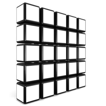 Cube photo frame display image in white space select white alpha to add your photo Stock Photo - 9534779