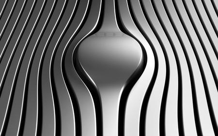 Silver abstract stripe luxury background 3d illustration Stock Illustration - 9587514