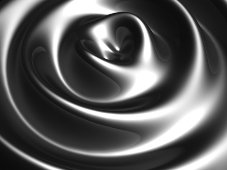 Silver ripple wave background 3d illustration