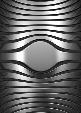 Silver abstract stripe luxury background 3d illustration Stock Illustration - 9788613