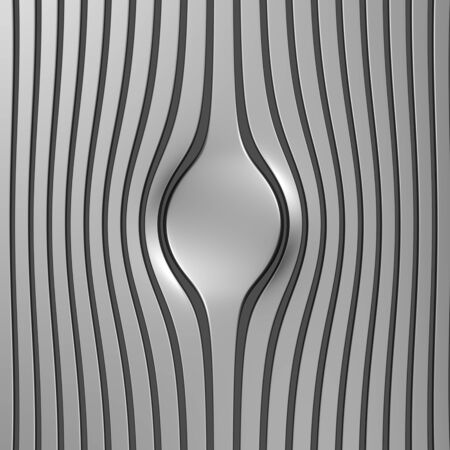 Silver abstract stripe luxury background 3d illustration Stock Illustration - 9936540