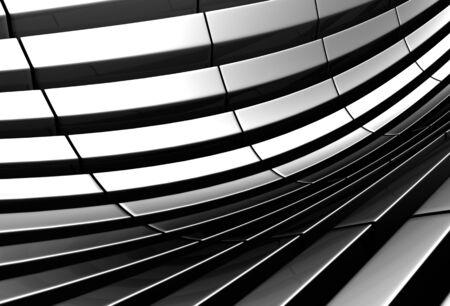 Aluminum abstract silver stripe pattern background 3d illustration Stock Illustration - 9936541
