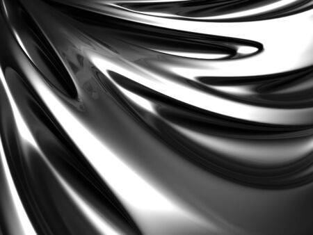 Silver abstract shiny background 3d illustration Stock Illustration - 9936547