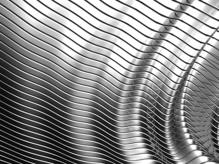Aluminum abstract silver stripe pattern background 3d illustration Stock Illustration - 10045045